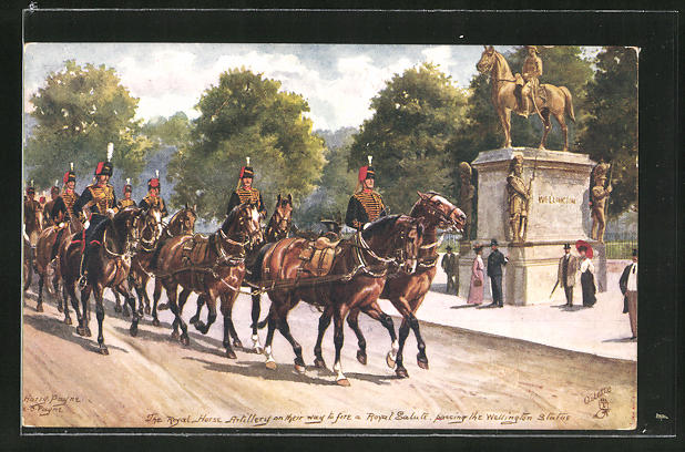 Künstler-AK Harry Payne: the Military in London, the Royal Horse Artillery