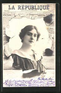 AK La Republique, Bildnis einer jungen Frau