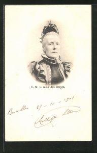 AK Portrait S.M. la reine des Belges