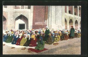 AK Russische Typen aus Zentral-Asien beim Gebet