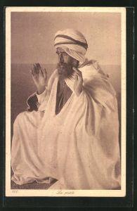 AK La priere, Araber beim Gebet