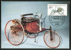 Maximum-AK Benz-Patent-Motorwagen 1886, Dreirad, dreirädriges Velocipet mit Motor, Auto