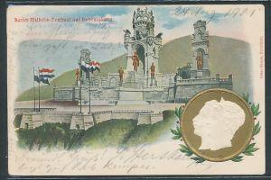 Präge-AK Kaiserin Auguste Victoria Königin von Preussen, Partie am Kaiser Wilhelm-Denkmal