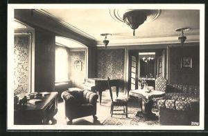 AK Tonndorf, Schloss, Salon mit Piano