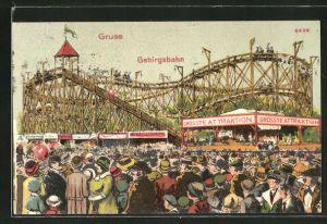 Künstler-AK Bruno Bürger & Ottillie Nr. 6496: Volksfest mit Gebirgsbahn