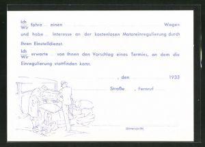 AK Karlsruhe / Baden, Raab Karcher G. m. b. H., Jahnstrasse 4, Wagen an der Tankstelle