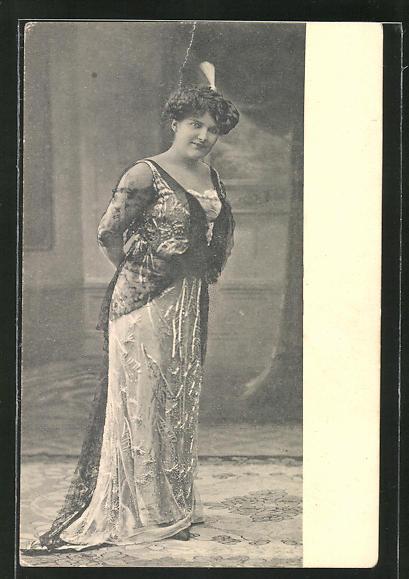 AK Frau Dir. Weber, Original Leipziger Fritz Weber-Sänger