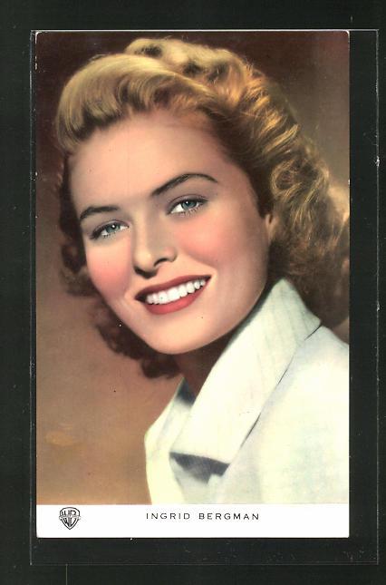 AK Schauspielerin Ingrid Bergman lächelnd