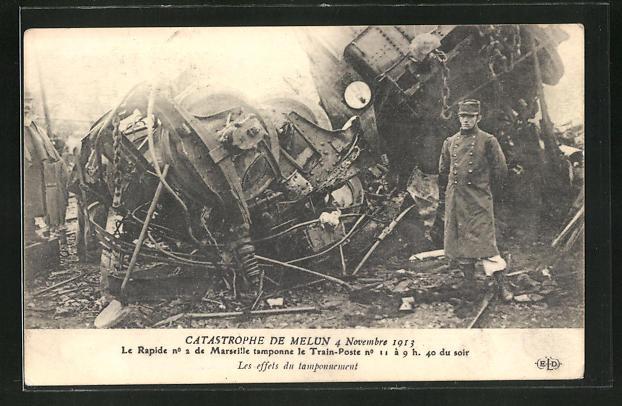 AK Catastrophe de Melun 4. Novembre 1913, Eisenbahnkatastrophe 1913