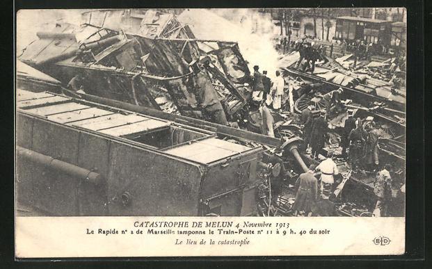 AK Catastrophe de Melun 1913, Eisenbahnkatastrophe