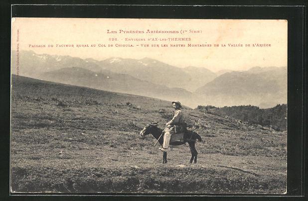 AK Passage Du Facteur Rural au Col de Chioula, Briefträger