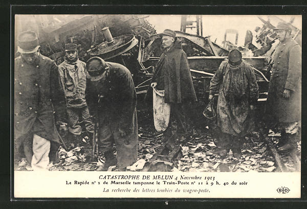 AK Melun, Eisenbahnkatastrophe 1913