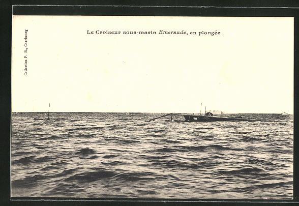 AK U-Boot Le Croiseur sous marin Enteraude, en plongée