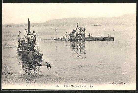 AK U-Boot Sous Marins en exercice