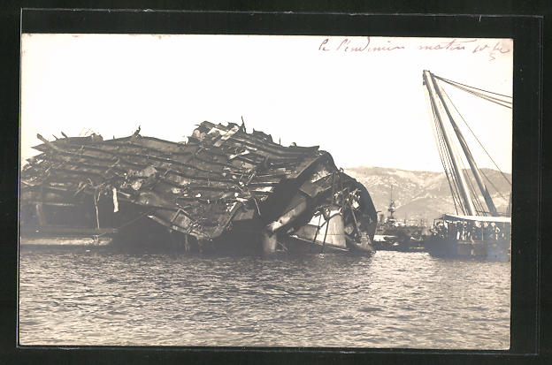 AK Catastrophe du Liberte, Les Epaves, Kriegsschiff, Seenotrettung