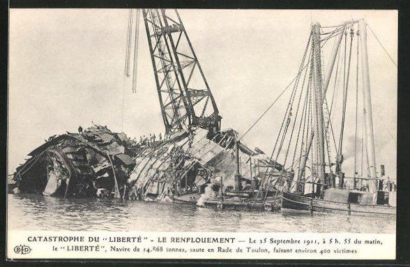 AK Catastrophe du Liberte, Le Renflouement, Kriegsschiff, Seenotrettung