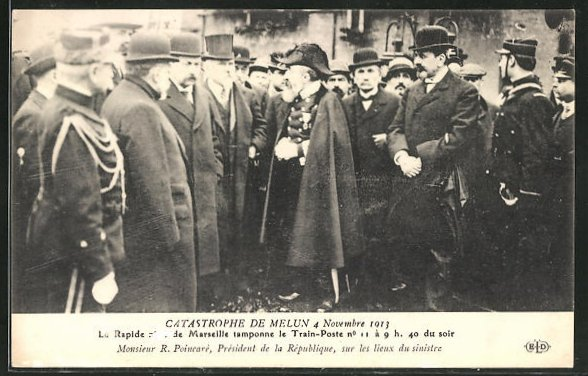 AK Catastrophe de Melun, Le Rapide de Marseille tamponne le Train-Post, Eisenbahnkatastrophe