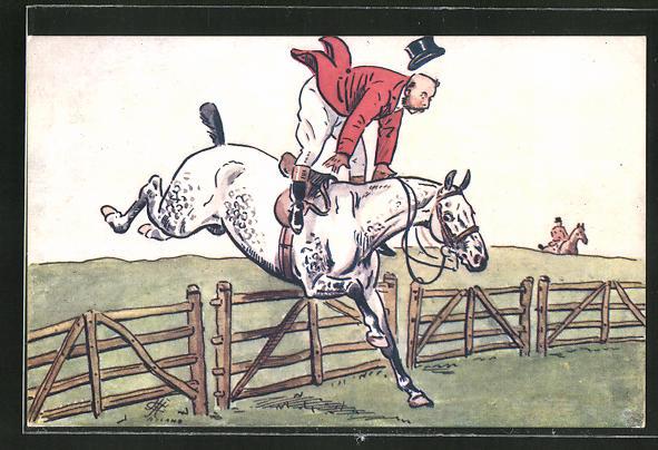 AK Reiter springt über ein Hindernis