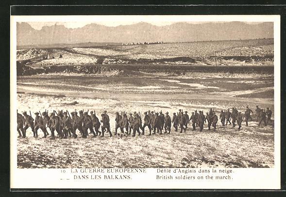 AK La Guerre Europeenne dans les Balkans, British soldiers on the march