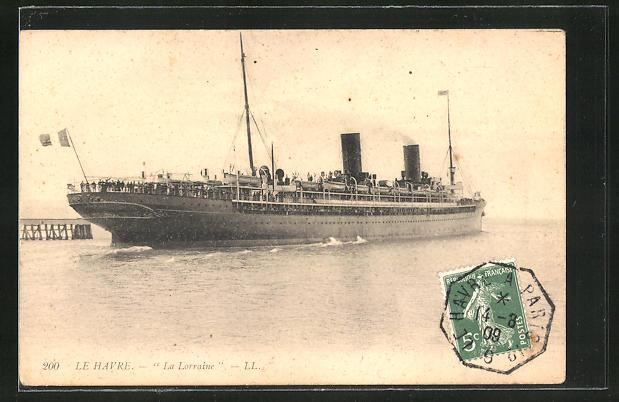 AK Le Havre, Passagierschiff