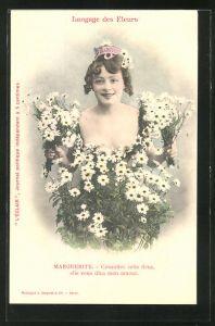 AK Langage des Fleurs, Marguerite, Consultez cette fleur elle vous dita mon amour