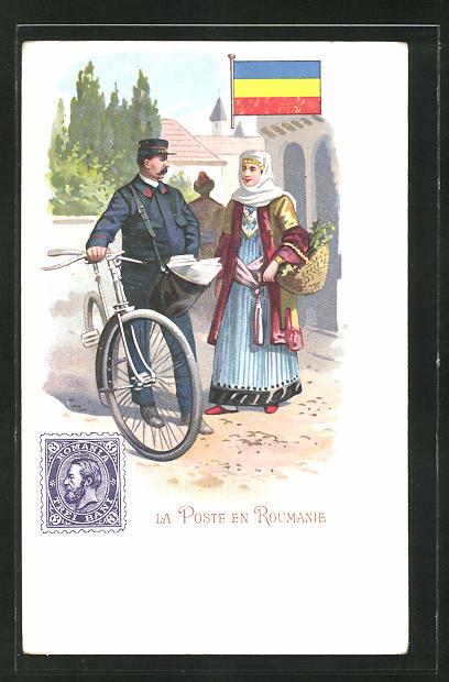 AK La Poste en Roumanie