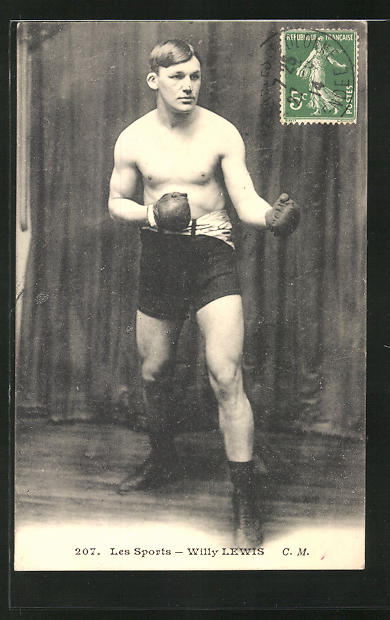 AK Les Sports, Willy Lewis mit Boxhandschuhen