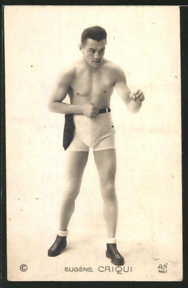 AK Boxer Eugene Criqui im Portrait