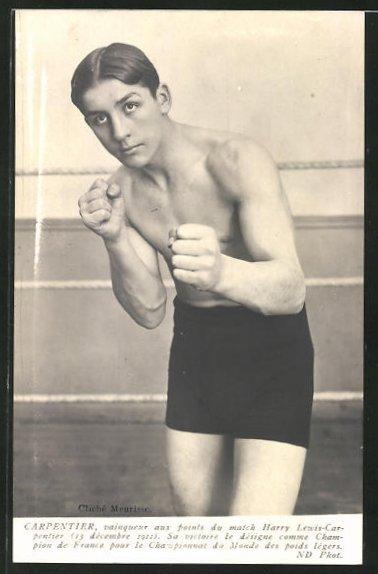 AK Boxer Harry Lewis-Carpentier im Portrait