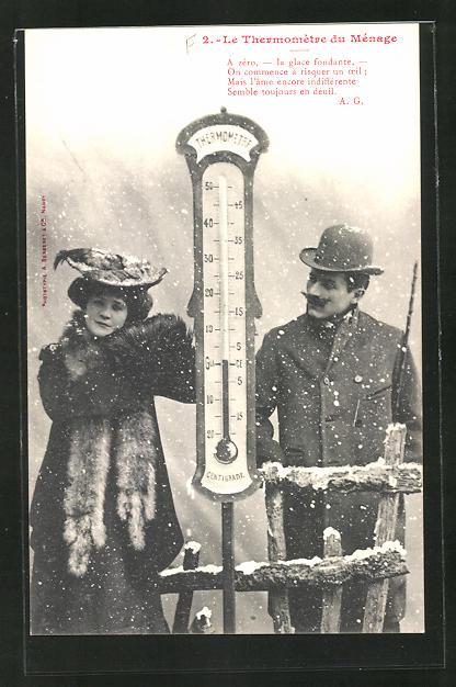 AK Le Thermomètre du Ménage, A zéro..., Scherz