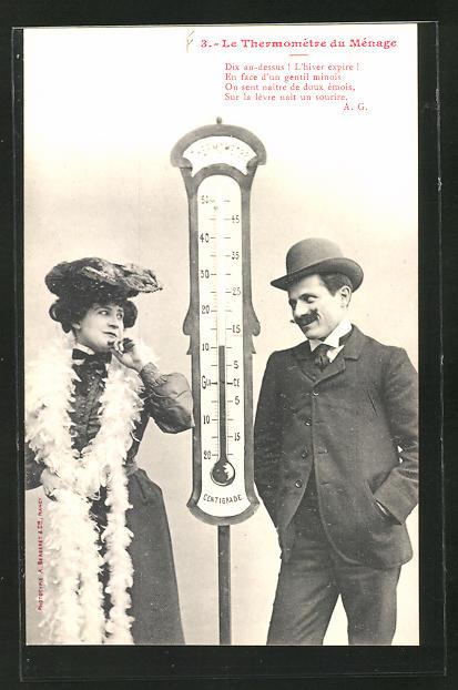 AK Le Thermomètre du Ménage, Dix au-dessus!..., Scherz