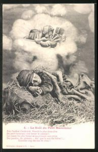AK 4. Le Noel du Petit Ramoneur, träumender kleiner Schornsteinfeger