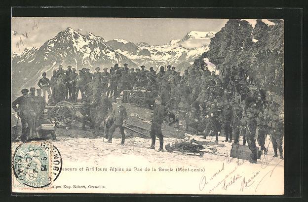 AK Artilleurs Alpins au Pas de la Beccia