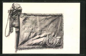 AK Fahne der Alpenjäger vom 55. Regiment, Dornach, Vincy, Crouy, Genermont