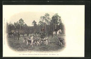 AK Chasse a Courre en Foret de Fontainebleau, en Defaut, Jagd