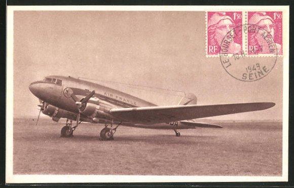 AK Douglas D C 3, en service sur les lignes Air France, Flugzeug