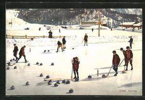 AK Curling, Wintersportler auf dem Eis