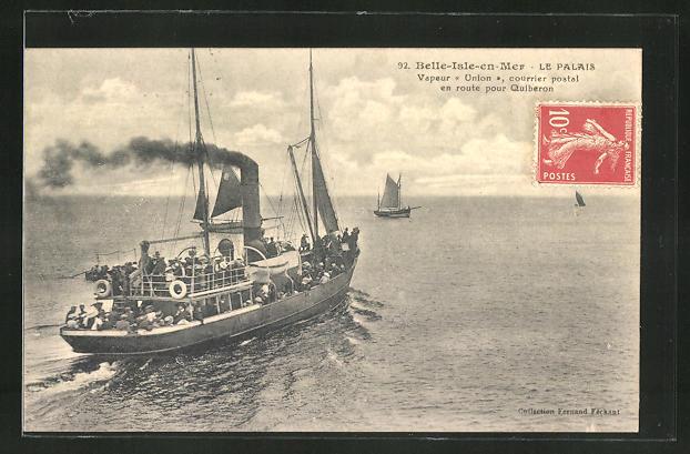 AK Belle-Isle-en-Mer, Vapeur Union, Passagierschiff
