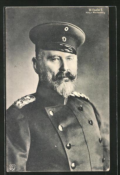 AK König Wilhelm II. von Württemberg in Uniform