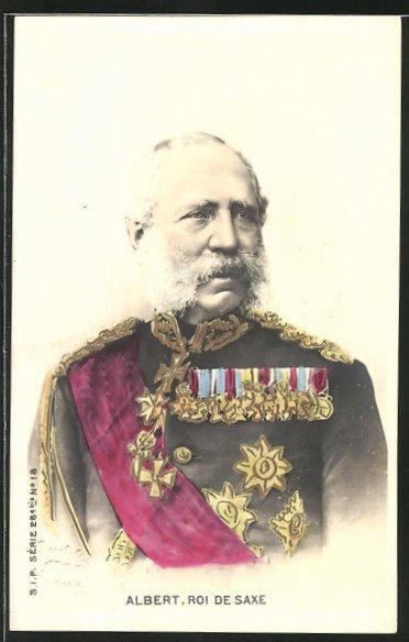 AK König Albert von Sachsen in Uniform, Halbportrait
