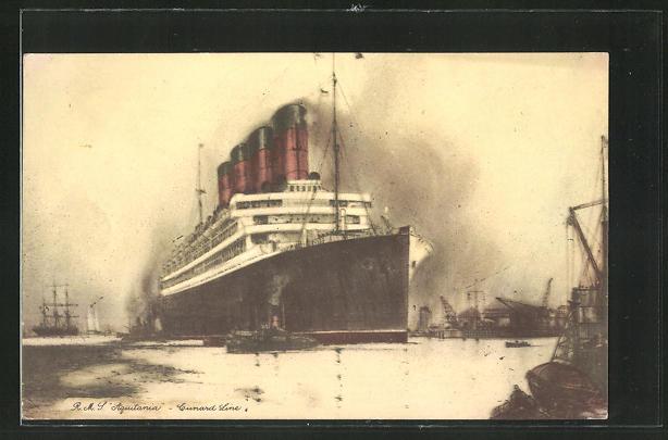 AK Passagierschiff fährt im Hafen ein
