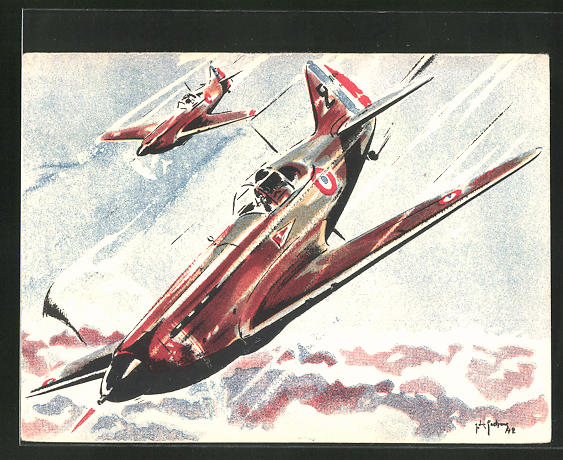 AK Flugzeuge im Sturzflug