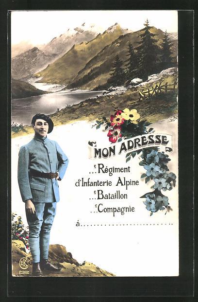 AK Infanterie Alpine, französ. Alpenjäger