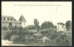 AK Curepipe, Statue de Paul et Virginie, Hotel de Ville