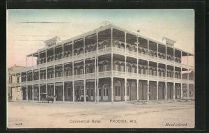 AK Phoenix, AZ, Blick auf das Commercial Hotel