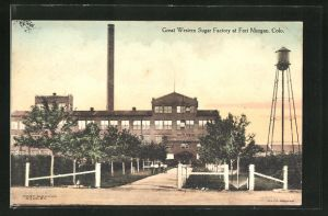 AK Fort Morgan, CO, Blick auf die Great Western Sugar Factory