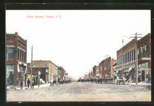 AK Tulsa, OK, Blick in die First Street