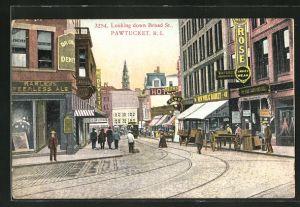 AK Pawtuckert, RI, Looking down Broad Street