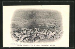 AK Anjouan, Sultanat, Vue du Chanda , Village de l'intérieur