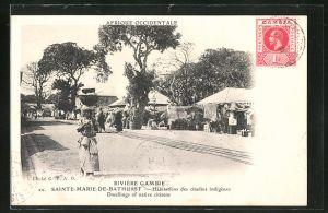 AK Sainte-Marie-de-Bathurst, Habitations des citadins indigènes